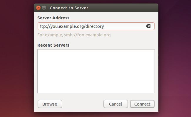 دسترسی به FTP در اوبونتو