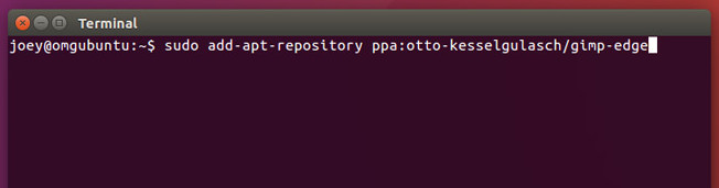 نصب Gimp 2.9.x بر روی اوبونتو