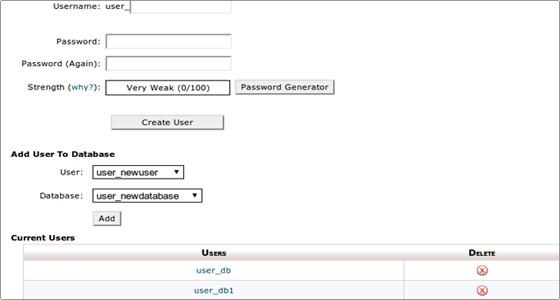 ایجاد پایگاه داده در CPanel