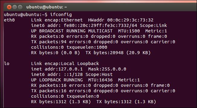 تغییر آدرس IP در لینوکس