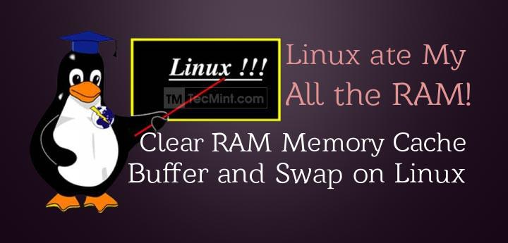 پاک کردن مموری کش ، بافر و Swap در لینوکس