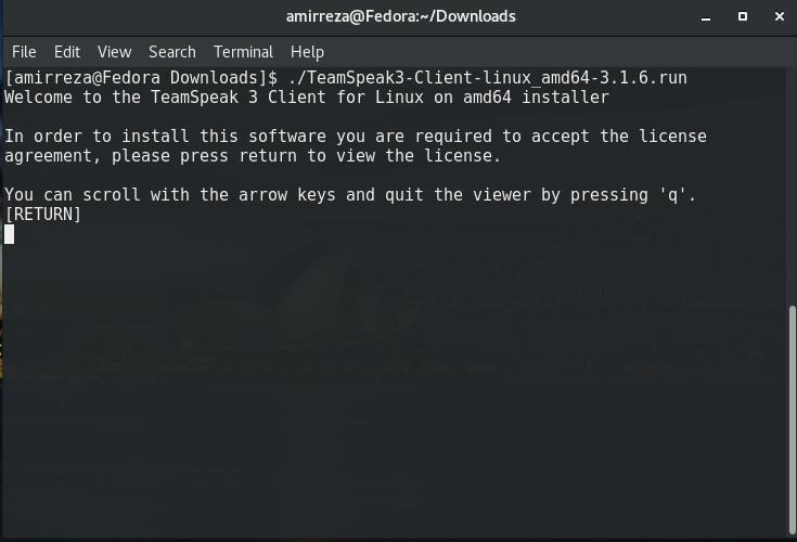 نصب team speak در لینوکس