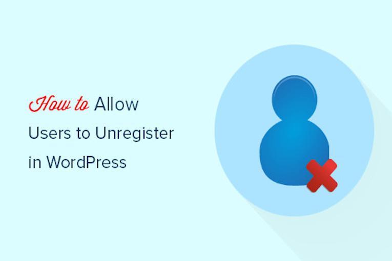 حذف حساب کاربری توسط کاربر در وردپرس