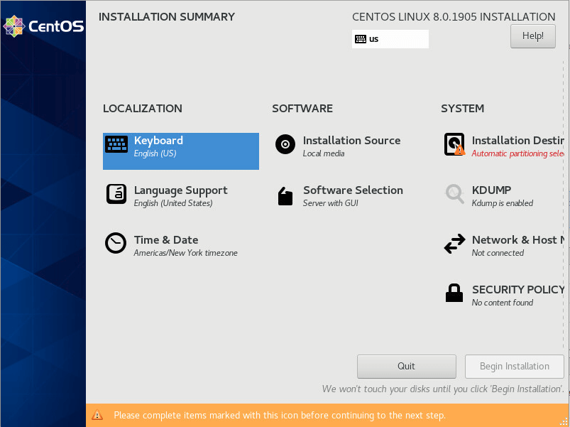 نصب CentOS 8.0