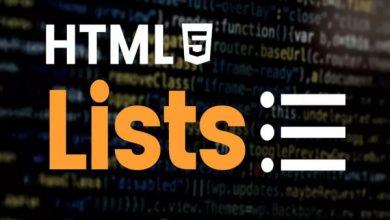 لیست HTML